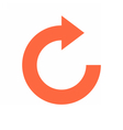 Arrow sign rotation icon reload button refresh vector image vector image