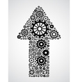 arrow with gears vector image vector image