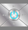 audio buttons with power simbol vector image vector image