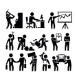 business and worker vector image vector image