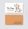 business card template dog care design vector image