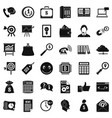 business marketing icons set simple style vector image vector image