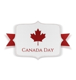 Canada Day patriotic Banner with Ribbon vector image vector image