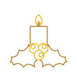 candle christmas flower decoration festive vector image vector image