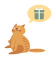 cat thinking about gifts vector image vector image