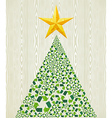 Christmas recycle pine tree vector image