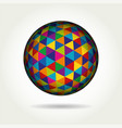 colored spherical 3d geometric vector image vector image
