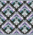 colorful vintage 3d seamless pattern floral vector image