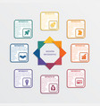 colour triangles 8 options vector image vector image