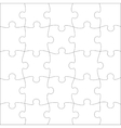 Complete puzzle vector image