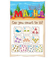 count number math to ten vector image vector image