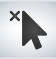 cursor close element iconfor apps and web vector image vector image