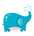 cute elephant cartoon baby vector image