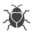cute flying ladybug heart shape with bug vector image vector image
