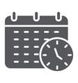 deadline glyph icon organizer and plan calendar vector image