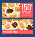 discount or gift card voucher templates vector image vector image