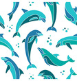 Dolphins seamless pattern vector image vector image