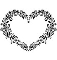 Embroidery inspired heart shape vector image vector image
