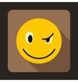Eyewink emoticon icon flat style vector image vector image