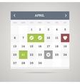 Flat calendar vector image