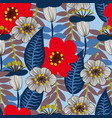 floral seamless pattern for textile vector image vector image