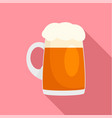 fresh german beer mug icon flat style vector image vector image