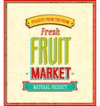Fruit market design vector image