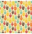 Funny skull seamless vector image vector image