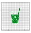 Gas drink cup icon vector image