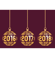 German New Year elements for years 2016 - 2018 vector image
