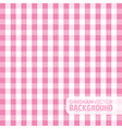 Gingham pink vector image