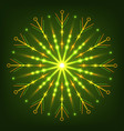 glowing neon snowflake for new year and christmas vector image vector image
