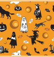 halloween seamless pattern 5 vector image vector image