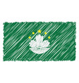 hand drawn national flag of macau isolated on a vector image vector image