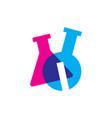 i letter lab laboratory glassware beaker logo icon