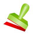 icon stamp vector image vector image