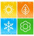 icons seasons vector image