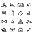 line car wash icon set vector image