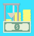 money and time vector image