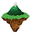 mountain and terrain low poly isolated icon design vector image vector image