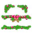 Parts of Christmas decoration for rectangle area vector image vector image
