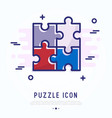 puzzle thin line icon modern vector image