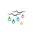 rain love logo cloud and love droplet vector image vector image