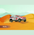 rally racing flat background vector image vector image