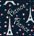 seamless pattern france vector image