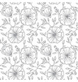 seamless vintage flower pattern vector image vector image
