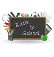set icons school supplies 02 vector image vector image