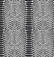 Snake skin texture Seamless pattern black on white vector image vector image