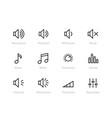 sound volume controls equaliser note levels vector image vector image