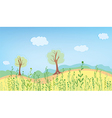 Summer landcape with grass vector image vector image